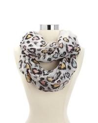 Écharpe imprimée léopard blanche