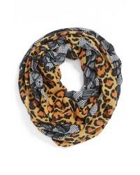 Écharpe imprimée léopard marron clair
