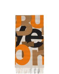 Écharpe imprimée marron clair Burberry