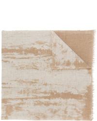 Écharpe imprimée marron clair Fabiana Filippi