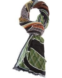 Écharpe imprimée multicolore