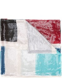 Écharpe imprimée multicolore Armani Collezioni