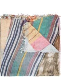 Écharpe imprimée multicolore Figue