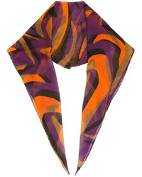 Écharpe imprimée multicolore Versace