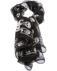 Écharpe imprimée noire et blanche