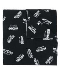 Écharpe imprimée noire et blanche Moschino