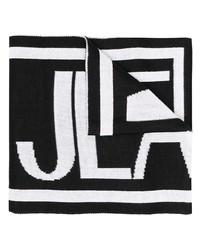 Écharpe imprimée noire et blanche VERSACE JEANS COUTURE
