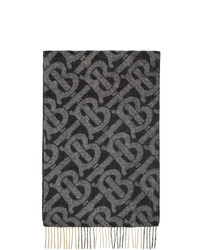 Écharpe imprimée noire Burberry