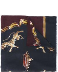 Écharpe imprimée noire Dolce & Gabbana