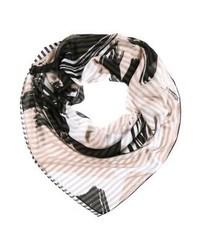 Écharpe imprimée noire Even&Odd