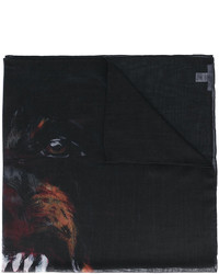 Écharpe imprimée noire Givenchy