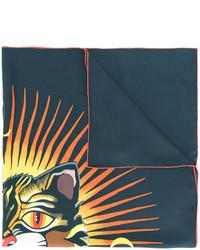 Écharpe imprimée noire Gucci