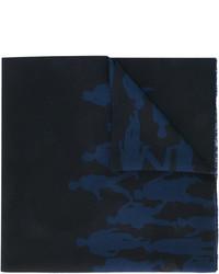 Écharpe imprimée noire Salvatore Ferragamo