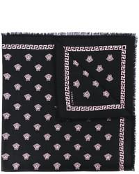 Écharpe imprimée noire Versace