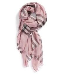 Écharpe imprimée rose