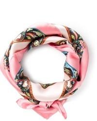 Écharpe imprimée rose Dolce & Gabbana