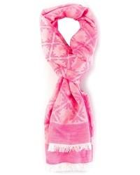 Écharpe imprimée rose Emporio Armani