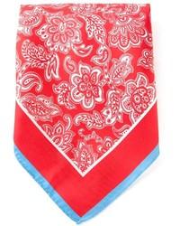 Écharpe imprimée rouge et blanc