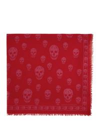 Écharpe imprimée rouge Alexander McQueen