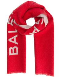 Écharpe imprimée rouge Balenciaga