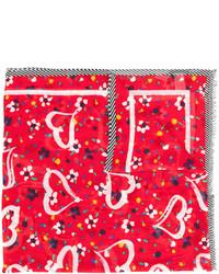 Écharpe imprimée rouge Marc Jacobs