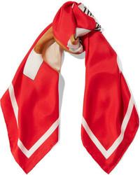 Écharpe imprimée rouge Moschino