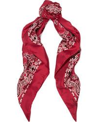 Écharpe imprimée rouge Saint Laurent