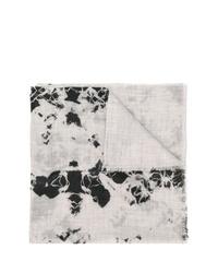 Écharpe imprimée tie-dye grise Suzusan
