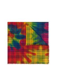 Écharpe imprimée tie-dye multicolore