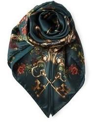 Écharpe imprimée vert foncé Dolce & Gabbana