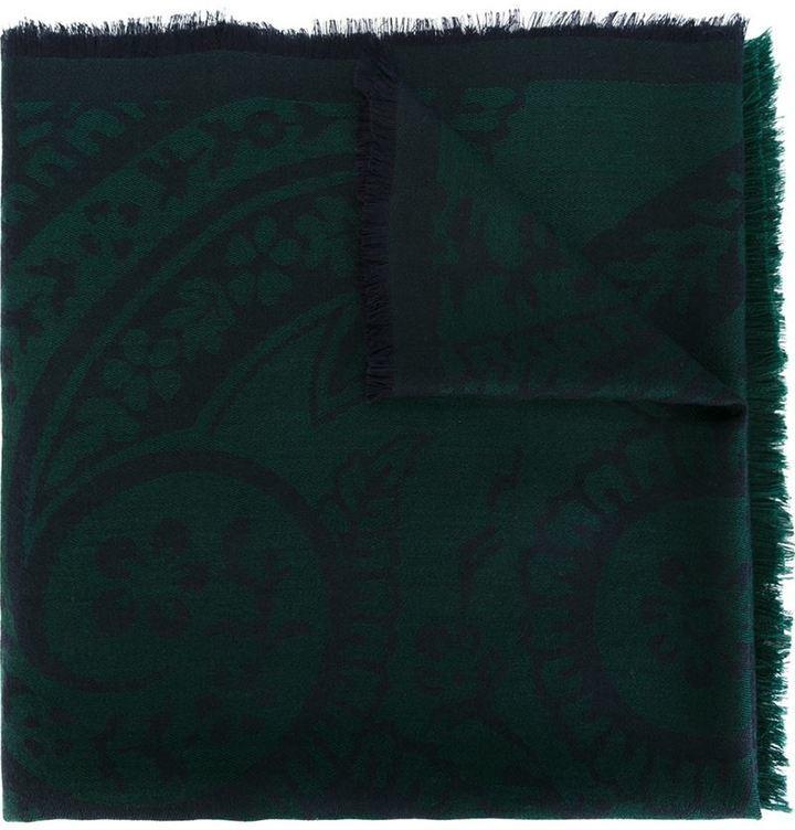 Écharpe imprimée vert foncé Etro