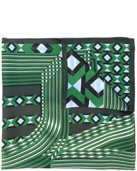 Écharpe imprimée vert foncé Fendi