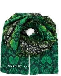 Écharpe imprimée vert foncé Marc by Marc Jacobs