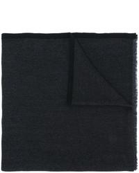 Écharpe légère à motif zigzag noire Salvatore Ferragamo