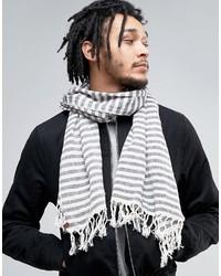 Écharpe légère à rayures horizontales grise Esprit