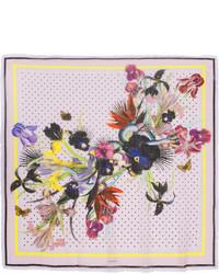 Écharpe légère imprimée violet clair Givenchy