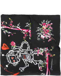 Écharpe légère noire Dolce & Gabbana