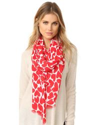 Écharpe légère rouge Kate Spade