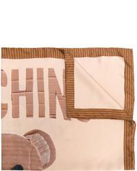 Écharpe marron clair Moschino