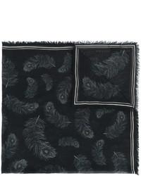 Écharpe noire Alexander McQueen