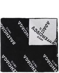 Écharpe noire Balenciaga