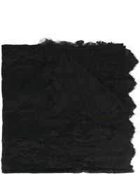 Écharpe noire Ermanno Scervino