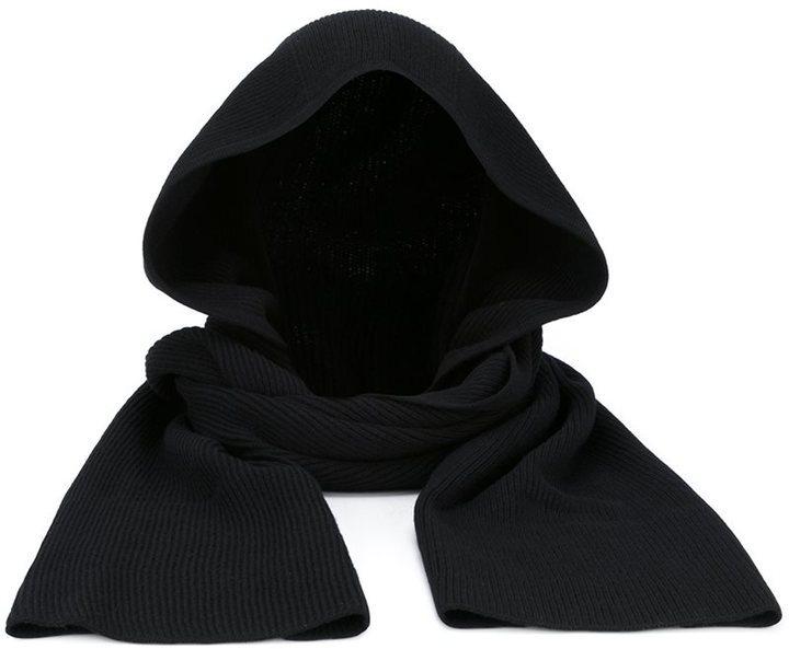 Écharpe noire Helmut Lang