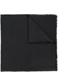 Écharpe noire Saint Laurent