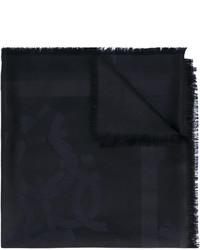 Écharpe noire Salvatore Ferragamo