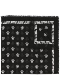Écharpe noire Versace