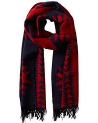 Écharpe rouge et bleu marine