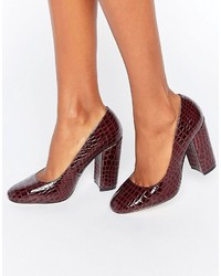 Escarpins bordeaux Asos