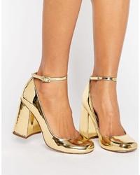 Escarpins dorés Asos