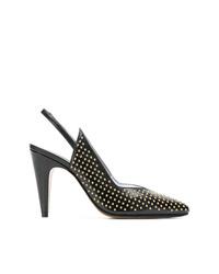 Escarpins en cuir à clous noirs Givenchy